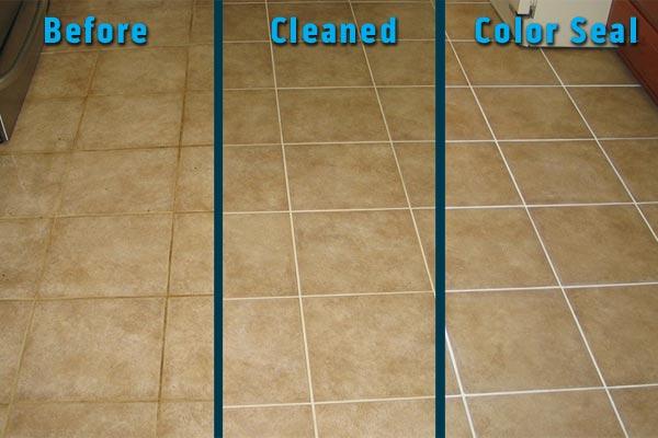 clear vs color sealed tile